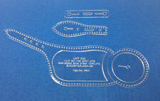 SPUR STRAP TEMPLATE SET FOR LEATHER CRAFTERS, RODEO  -  ITEM RSS2