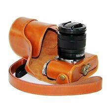 PU Leather Case Bag Fujifilm Fuji X-M1/X-A1/X-A2 with 16-50mm Digital Cameras