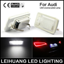 Pair Canbus LED License Plate Light Lamp Error Free For AUDI Q7 Q5 A4 A6 12V