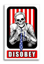 Disobey Sticker They Live Decal Anonymous Occupy Rebel Anti Establishment