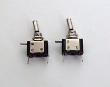 2 BBT Brand Lighted White LED Heavy Duty On/Off 20 amp 12 volt Toggle Switches