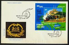 1983 ORIENT-EXPRESS,Train,Lions,Coat of Arms,PARIS-ISTANBUL,map,Romania,198,FDC