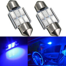 2x Bombillas 31MM C5W 5630 LED 6 SMD CANBUS  Azul Festoon Matricula Interior luz