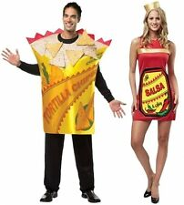 Adult Hot & Spicy Salsa and/or Tortilla Chips Couple Costumes Foodies fnt