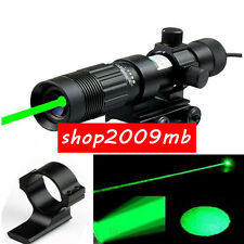 Adjustable Green Laser Designator Flashlight Illuminator Beam For 20mm Rail Hunt