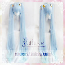 Japan Anime Wig Cosplay Cos Hair Props Snow Hatsune Miku Ice Blue Long Gift 2017