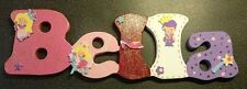 Hand Made Personalised Name Sign / Plague in Princess Theme - Bedroom Kids Baby