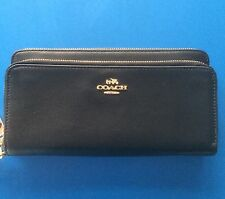 Super Smart /practical COACH ~ Black High Quality Leather Wallet : BNWT