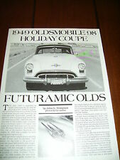 1949 OLDSMOBILE 98 HOLIDAY COUPE ***ORIGINAL 1991 ARTICLE / SPECIFICATIONS***