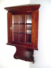 THE SOPRANOS TV SHOW PROPS CARMELA'S WOODEN CORNER CABINET MAHOGANY FINISH