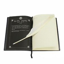Set Death Note Notebook Feather Pen Writing Journal Anime Theme Cosplay Book