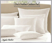 "Luxury Soft Duck Feather Cushion Pad Choice of Pack and Sizes 16"" To 24"""