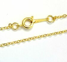 30 Gold Plated Necklace Trace Chains 16'' Findings UK Seller