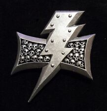 40k Space Marines White Scars Chapter badge pin