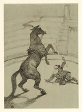 Toulouse-Lautrec Circus lithograph printed by Mourlot