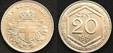 VITTORIO EMANUELE III 20 Centesimi Esagono 1919 FDC