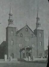 P.Q. Church, Cap-Santé, Québec, Canada, Magic Lantern Glass Slide