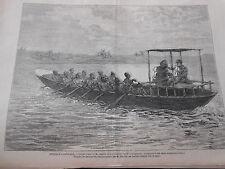Gravure 1872 - Afrique M. Stanley et le Dr Livingstone à Ujiji