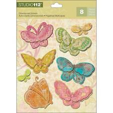 K&COMPANY STUDIO 112 BUTTERFLIES CANDY BRIGHT DIMENSIONAL 3D SCRAPBOOK STICKERS