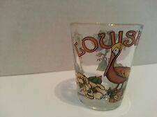 Shot Glass ClearLoisiana State Bird and Flower