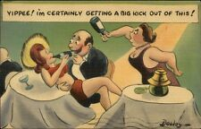 Dooley - Infidelity Husband Flirts w/ Young Sexy Woman Postcard