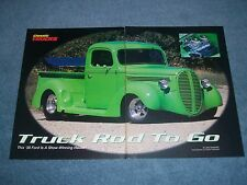"1938 Ford Pro-Street Pickup Vintage Article ""Truck Rod to Go"""
