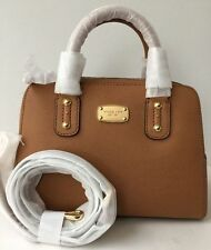 MICHAEL KORS SAFFIANO SMALL SATCHEL Acron BROWN PRETTY COLOR nwt