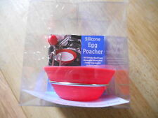 NEW SILICONE HANGING EGG POACHER RED NEW
