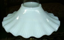 Opal Glass Petticoat Shade for old antique oil kerosene lamp chimney