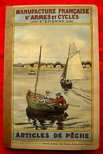 RARE MANUFRANCE de 1908 Ancien Catalogue PECHE MOUCHE TRUITE MOULINET FISHING