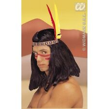 Indian Headress 2 Feathers Hat for Native American Wild West Cowboys Fancy Dress