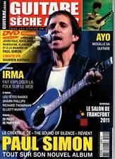 """GUITARE SECHE LE MAG #10 """"Paul Simon,Ayo,Têtes Raides,Lopez,Thompson"""" REVUE+DVD"""