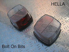 ACE Caravan Red & White Side Markers PAIR Light/lamps Jubilee/Globetrotter etcSQ