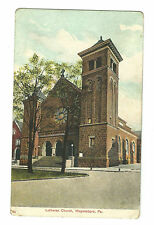 1908 Postcard Lutheran Church Waynesboro PA