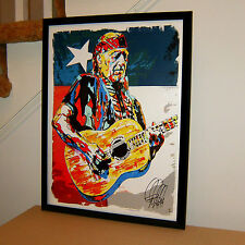 Willie Nelson, Singer Songwriter, Guitar Player, Country, 18x24 POSTER w/COA 2