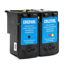 2PK ink for Canon PG-210XL CL-211XL MP230 MP240 MP250 MP270 MP280 MP480 MP490