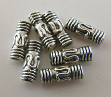 150pcs 3x8mm Metal Alloy Tube Spacer Beads - Antique Silver