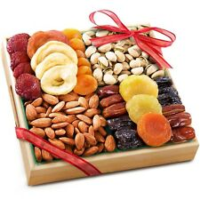Dried Fruit Tray Gift Holydays Gourmet Food Basket Savory Nuts Pistachio Almonds