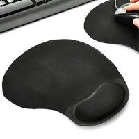 Neu Schwarz Mauspad mit Schaumstoff Handauflage Mousepad ergonomisches Maus Pad