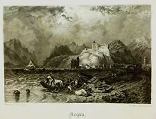 ITALY ANGERA MAGGIORE  AFTER CLARKSON STANFIELD PENCIL S.AKEHURST C1840
