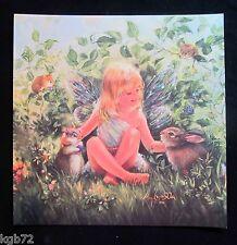 Leanin Tree Easter Greeting Card Woodland Fairy Nature Animals Multi Color E26