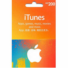 1pc x Apple Hong Kong iTunes Gift Card $HK200 (for Hong Kong iTunes Store Only)!