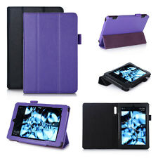 "Genuine Leather Smart Case Cover for Amazon Kindle Fire HD 7"" Tablet 2014 Ed"