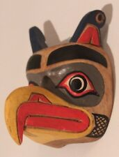 HAND CARVED AND PAINTED SOLID WOOD REPRODUCTION THUNDER BIRD MINIATURE MASK