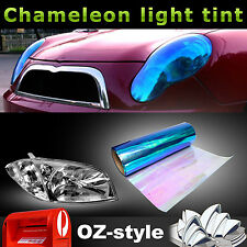Blue Chameleon Car Head Tail Light Tint Film DIY Change Color Cover 12'' x 48''