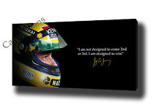 AYRTON SENNA CANVAS PRINT POSTER WALL ART PRINT F1 MOTIVATIONAL AUTOGRAPH SIGNED