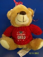 Grad Bear Balloon Bouquet Graduation Party Gift Stuffed Animal Teddy - Red
