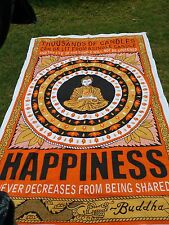Indian Happiness Hippie Tapestry Throw Buddha Wall Hanging Bedspread Ethnic Art