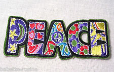 ECUSSON PATCH BRODE  thermocollant - PEACE PATCHWORK - 4 X 10 cm