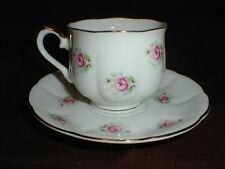 Japanese Fine Porcelain FTD Extra Touch Collectors ROYAL ROSE Tea Cup and Saucer